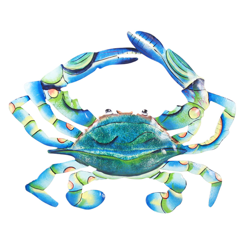 metal art blue crab