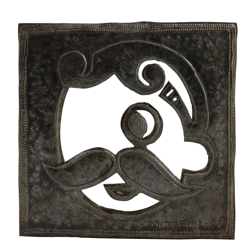 Natty Boh metal wall decor